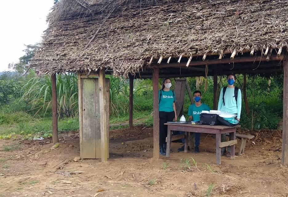 Hiers no local de atendimento na comunidade Yanomami
