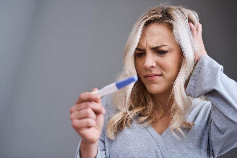 Teste de gravidez pode dar errado
